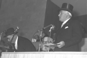 Sir Isaac Wolfson Speaking at the Dedication Ceremony of the